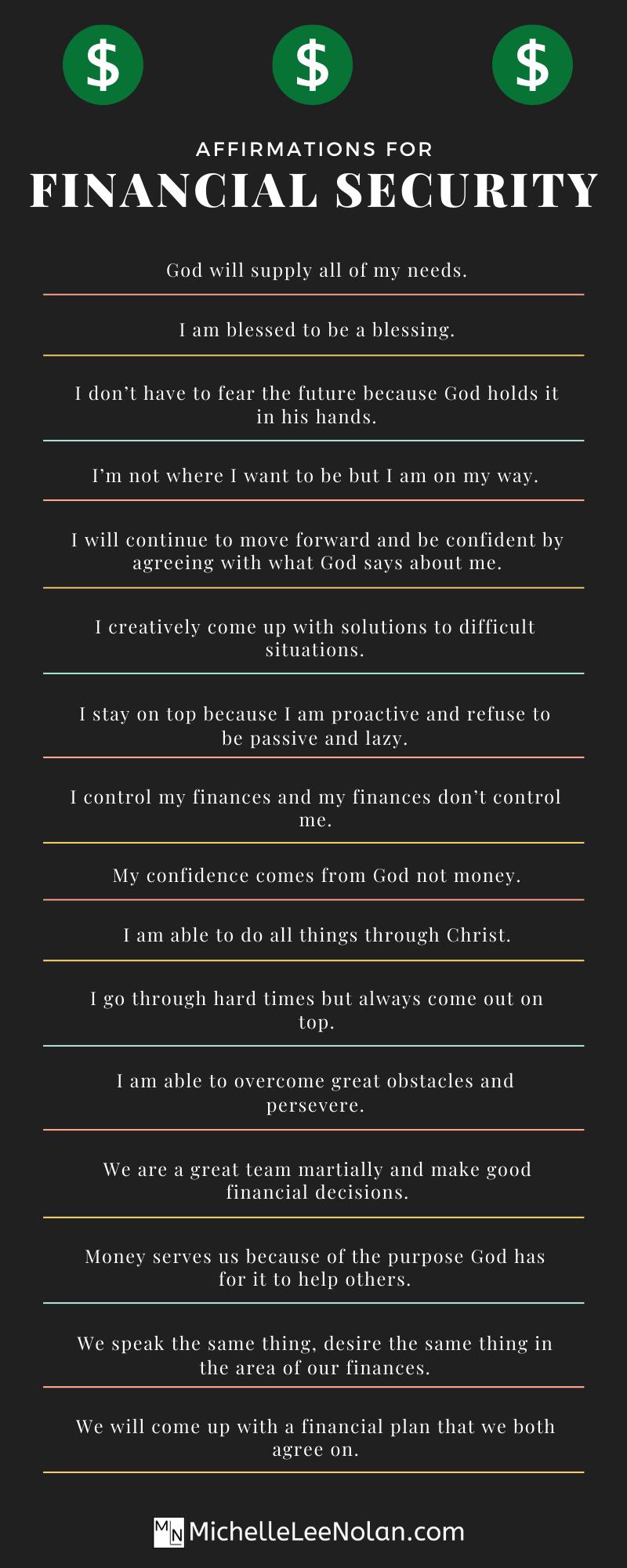 Beat financial insecurity with these positive affirmations